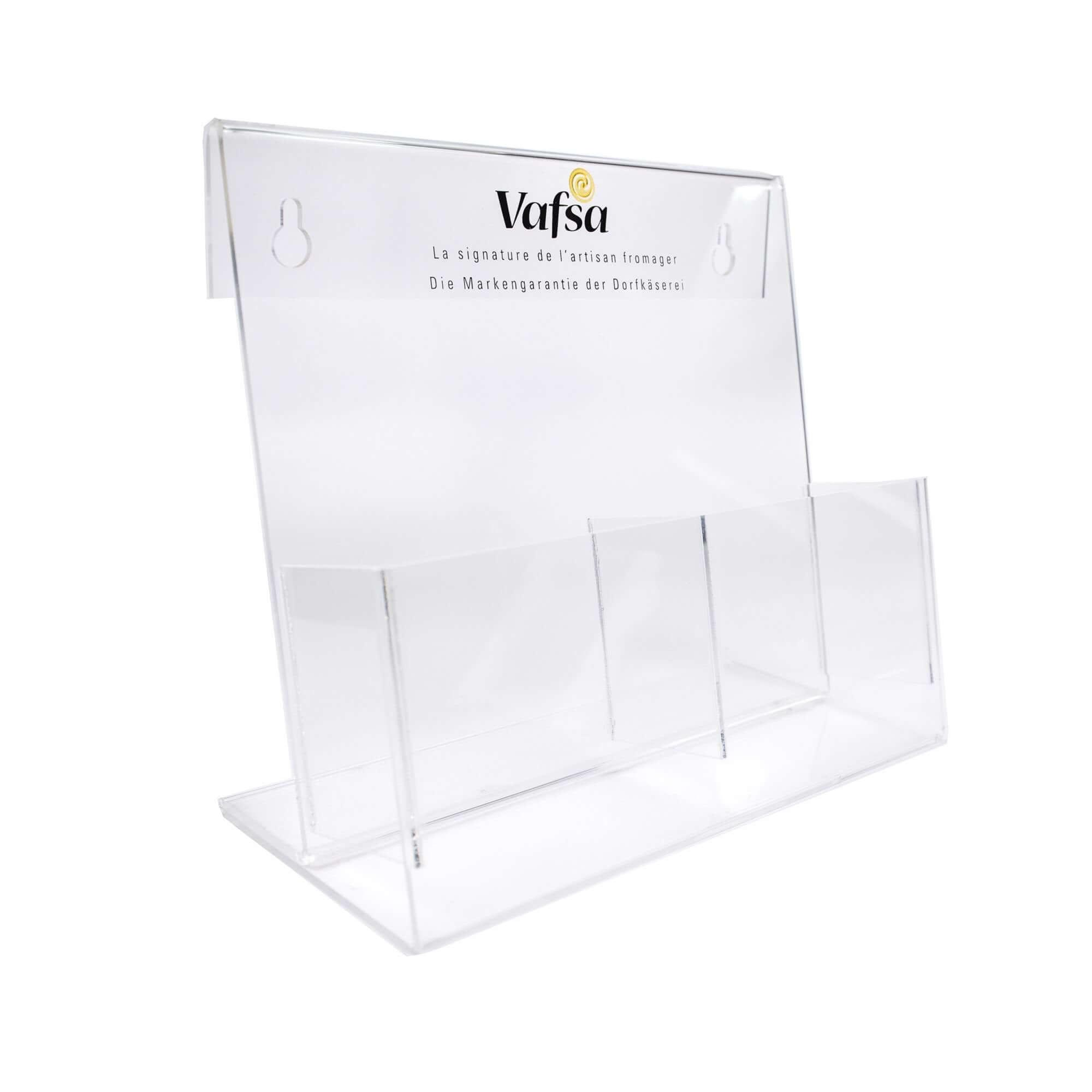 Acryline Prospektständer Prospektsteller aus Acrylglas acryl kunststoff prospektehalter prospekthalter broschürenhalter werbehalter prospekte halter display verkaufsförderung aussteller bedruckt