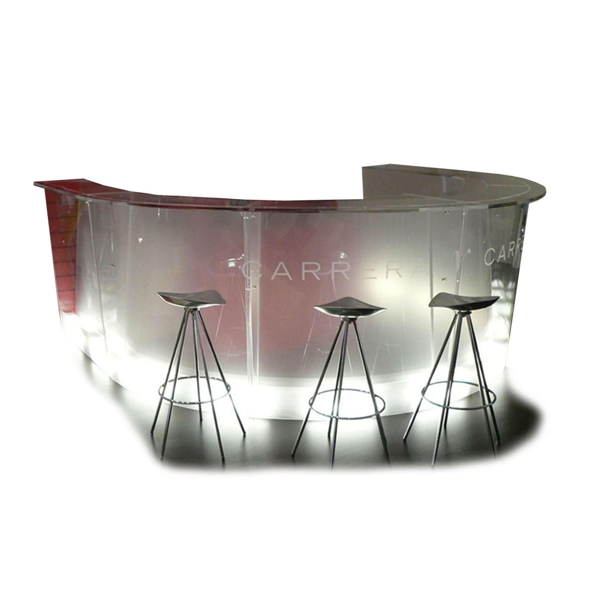 Theke aus Acrylglas
