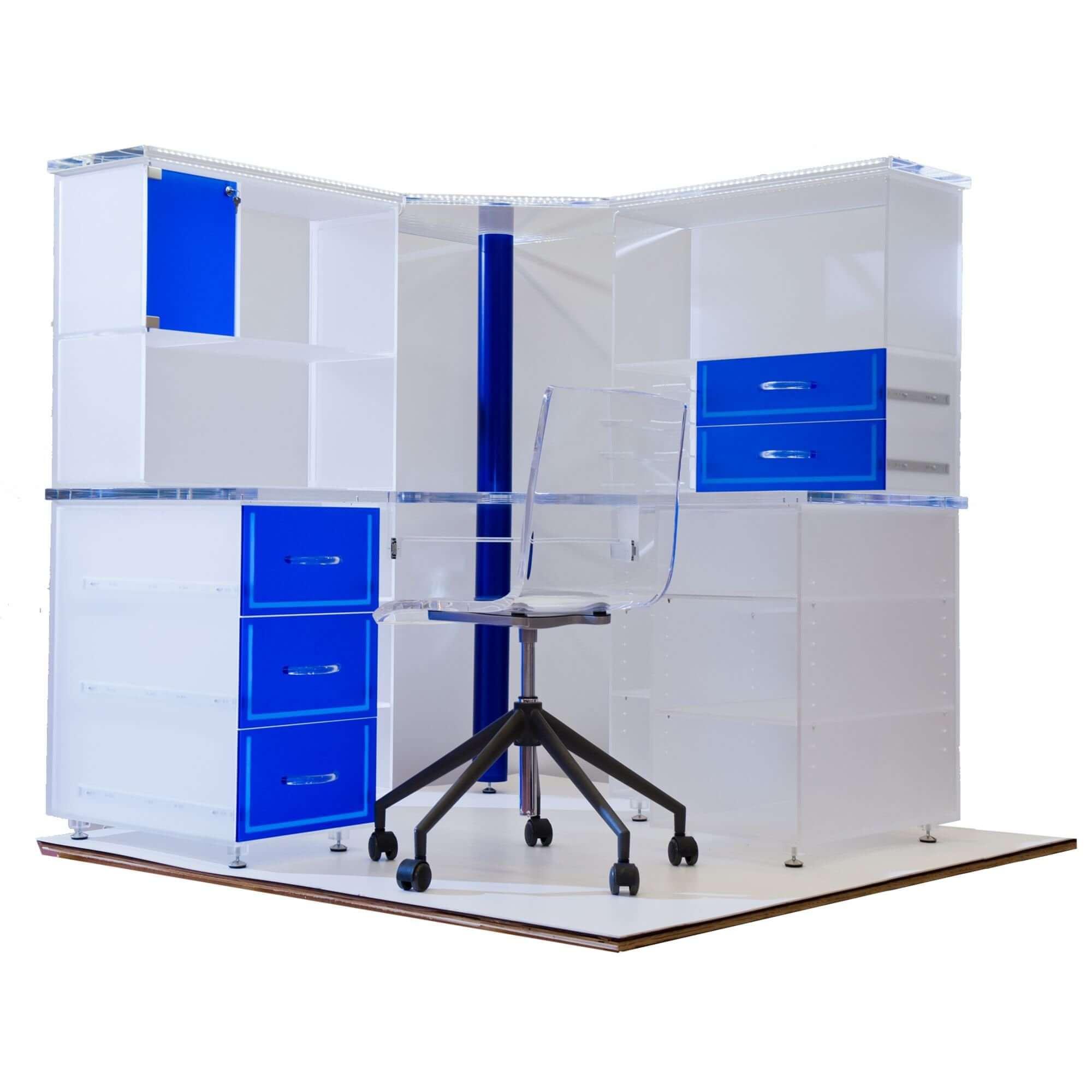 Meubles de bureau acryline faits de table acrylic de meubles table tables spéciaux sur mesure chaises corpus s bureau-bureau à la maison collé coupé au laser poli percé