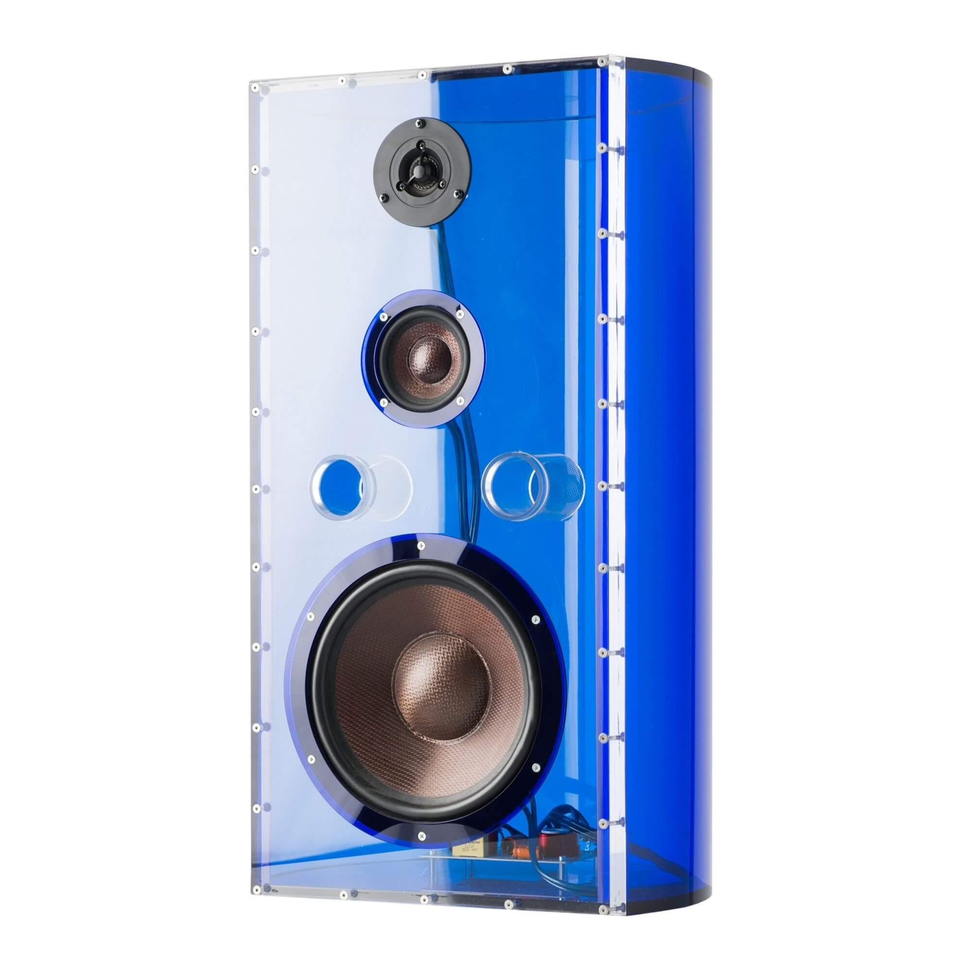 haut-parleur en verre acrylique