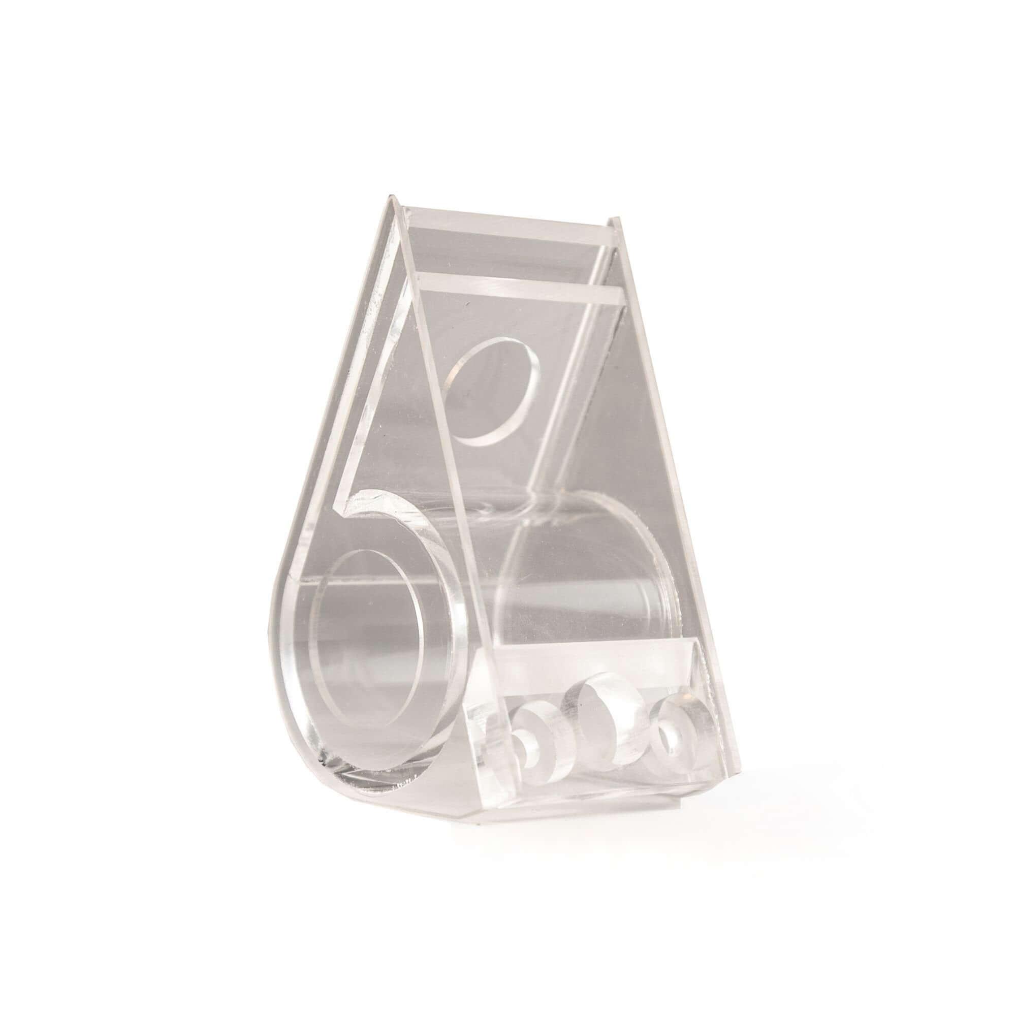 Acryline Papier-Abroller aus Acrylglas technische teile zubehör laser poliert geklebt acryl acrylglas kunststoff produktion papierabroller abroller