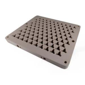 Acryline Gripper-Platte technische teile frästeil zubehör kunststoff produktion PEEK technisches platte