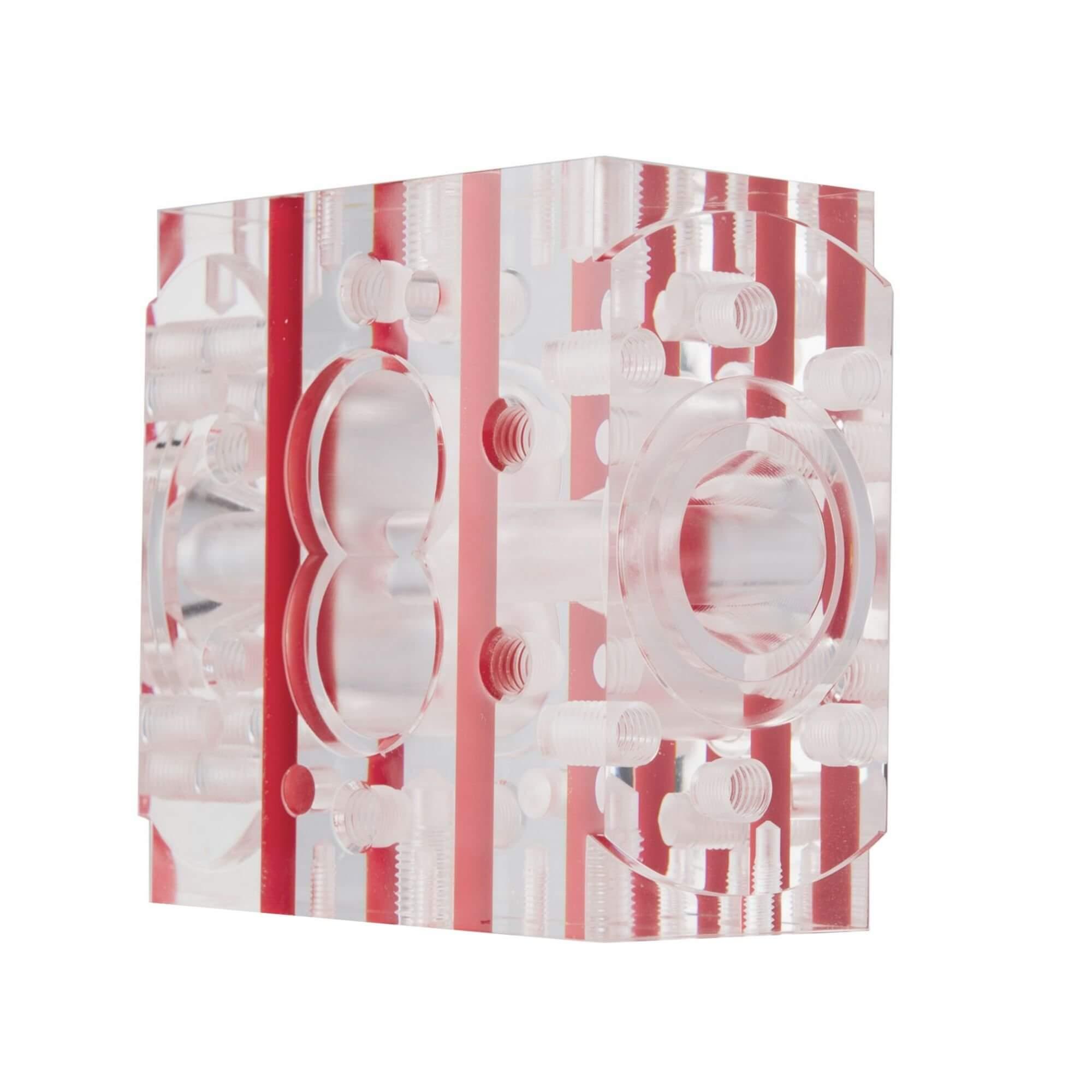 Acryline Modell Pumpengehäuse aus Acrylglas technische teile frästeil zubehör gefräst acryl kunststoff produktion