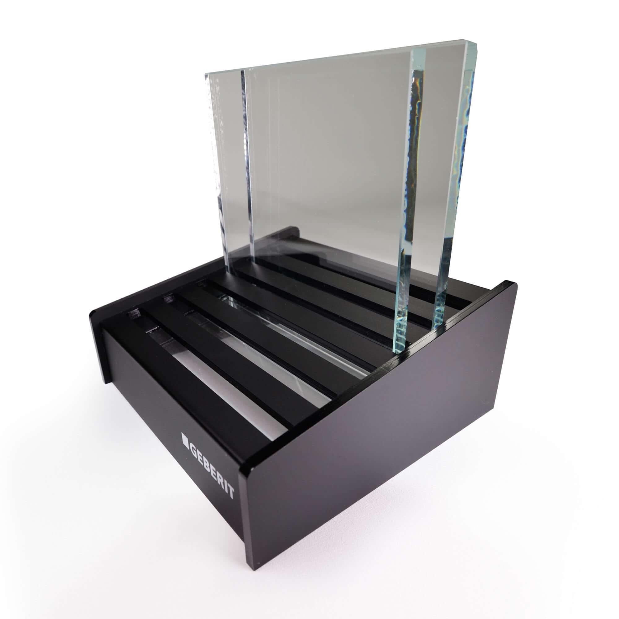 Acryline displays kunststoff bedruckt geklebt laser acryl verbindungstechnik
