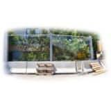 Acryline Kunststoff Acryl Produktion Beratung Herstellung Konstruktion Schallschutzwand / Lärmschutz aus Acrylglas schallschutz lärmschutz wand wände abdeckung temporär baustelle bau laser schützend