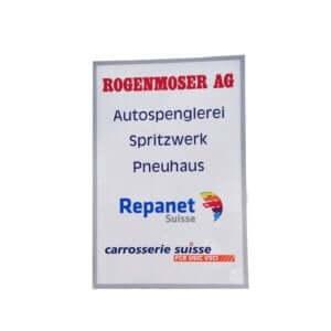 Leuchtreklame aus Acrylglas Kunststoff leuchtend Reklame Tafel Schild