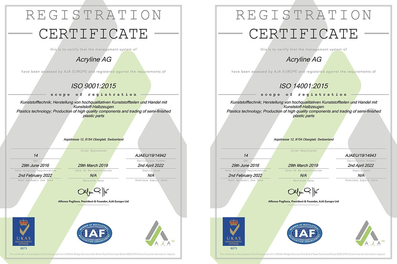 ISO Zertifikate